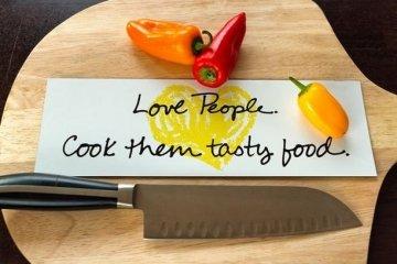 Love People Cook Them Tasty Food - Penzey Bumper Sticker Made By Websticker