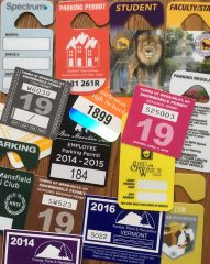 custom parking stickers and hanging parking tags printed by Websticker