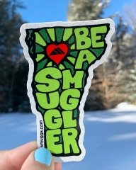 Screen printed, die-cut, outdoor sticker for Smuggler's Notch by Websticker