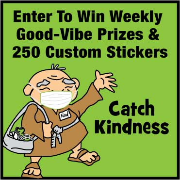 Win Free Stickers & Other Good Vibe Prizes